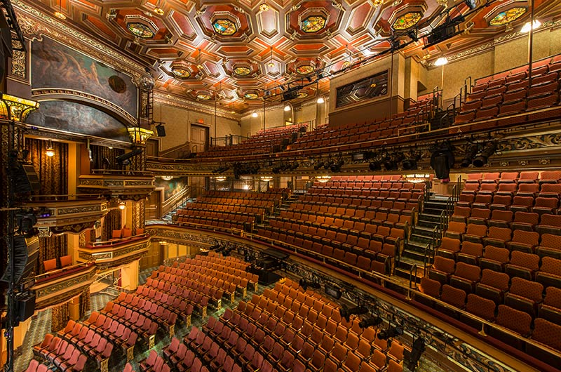 Nw Credit Union >> Belasco theatre with custom Meteor historic theater chairs manufactured by Irwin Seating with ...
