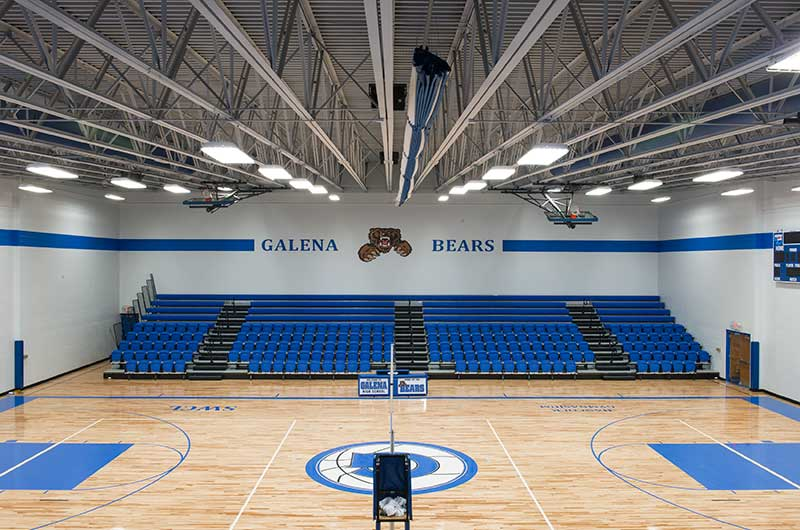 Galena High School With Irwin Seating Telescopic Bleachers