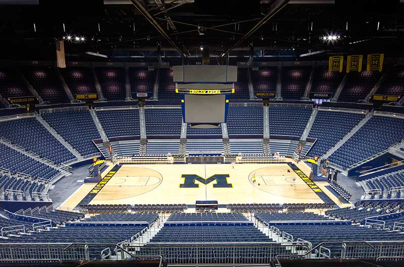University Of Michigan Crisler Center With Irwin Seating